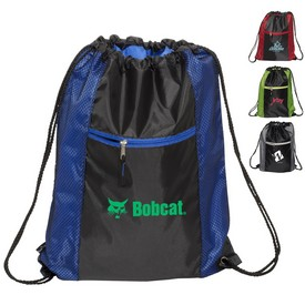 Promotional Porter Collection 210D Polyester Mesh Pattern Drawstring Bag