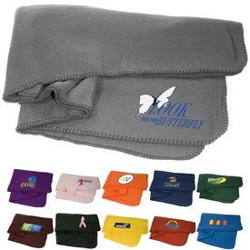 Promotional Econo Polyester Fleece Blanket