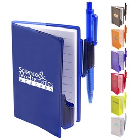Customized Clear-View Jotter With Pen