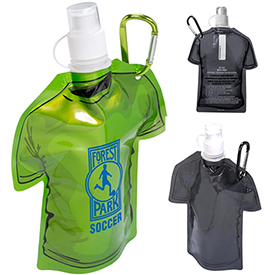 Customized T-Shirt Shaped Collapsible 16 Oz Water Bottle