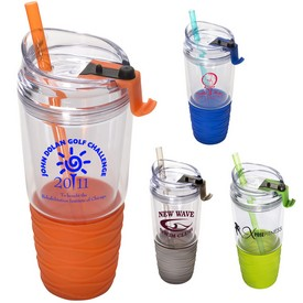 Custom Quench Acrylic 22 Oz Tumbler With Straw