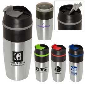 Promotional Easy-Sip 15 Oz Stainless Tumbler