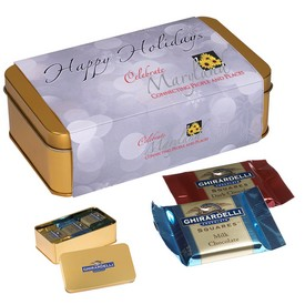 Promotional Ghirardelli Greetings Tin