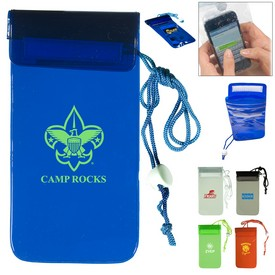 Promotional Waterproof Plastic Bag With Lanyard