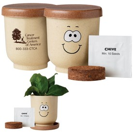 Promotional Goofy Grow Pot Eco-Planter Withchive Seeds