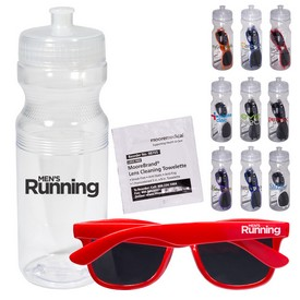 Customized Fashion Sunglasses Lens Cleaner In 24 Oz Sports Bottle