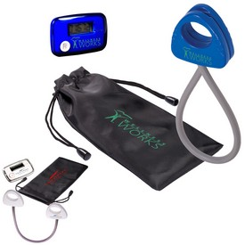 Promotional Stride Pedometer Stretch Band In A Pouch