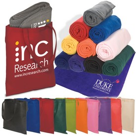 Promotional Fleece Blanket Tote Combo Kit