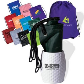 Customized Golf Can Holder Drawsting Backpack Kit