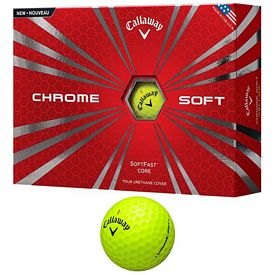 Promotional Callaway Chrome Soft Yellow Golf Balls 12-Pack
