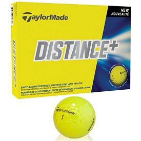 Promotional Taylormade Distance + Yellow Golf Balls 12-Pack