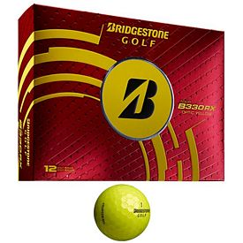 Promotional Bridgestone B330-RX Yellow Golf Balls 12-Pack