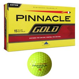 Promotional Pinnacle Gold Yellow Golf Ball 15-Pack