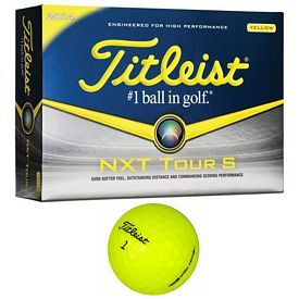 Promotional Titleist NXT Tour S Yellow Golf Balls 12-Pack
