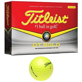Promotional Titleist DT SoLo Yellow Golf Balls 12-Pack