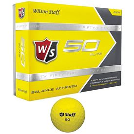 Promotional Wilson Staff 50 Elite Yellow Golf Balls 12-Pack