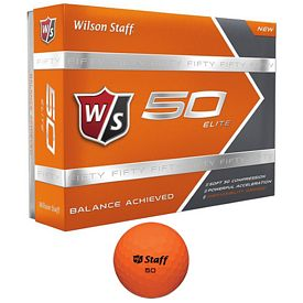 Promotional Wilson Staff 50 Elite Orange Golf Balls 12-Pack
