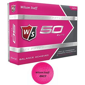 Promotional Wilson Staff 50 Elite Pink Golf Balls 12-Pack