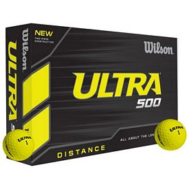 Promotional Wilson Ultra 500 Yellow Golf Balls 12-Pack