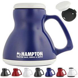 Promotional 16 oz Hour Glass Travel Mug