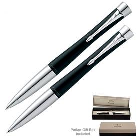 Promotional Parker Urban Laquer Black CT Gel Pen & Pencil Set
