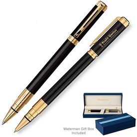 Customized Waterman Perspective Black GT Roller Ball Pen