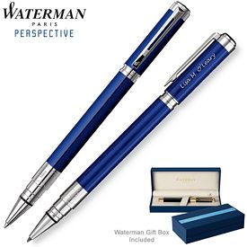 Promotional Waterman Perspective Blue CT Roller Ball Pen