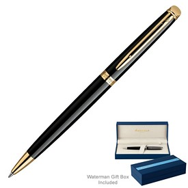 Custom Waterman Hemisphere Black Gt Ballpoint Pen