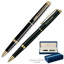 Promotional Waterman Hemisphere Black Gt Roller Ball Pen