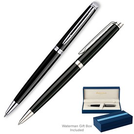 Customized Waterman Hemisphere Black Ct Ballpoint Pen