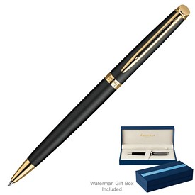 Promotional Waterman Hemisphere Matte Black Gt Ballpoint Pen