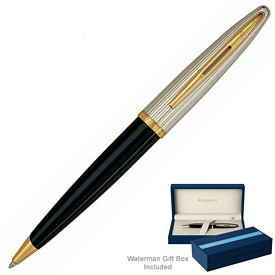 Promotional Waterman Carene Deluxe Black Gt Ballpoint Pen