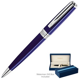 Promotional Waterman Exception Slim Blue St Ballpoint Pen