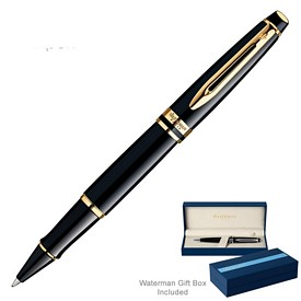 Custom Waterman Expert Black Gt Roller Ball Pen