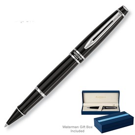 Custom Waterman Expert Lacquer Black Ct Roller Ball Pen