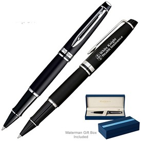 Customized Waterman Expert Matte Black Ct Roller Ball Pen