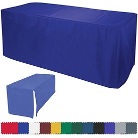 Customized 6 Ft Decobrite Nylon Table Cover 4-Sided (Unimprinted)