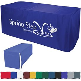 Promotional 6 Ft Decobrite Nylon Table Cover 4-Sided (1-Color Imprint)