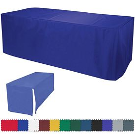Customized 8 Ft Decobrite Nylon Table Cover 4-Sided (Unimprinted)