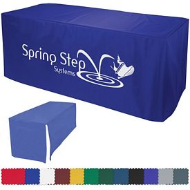 Promotional 8 Ft Decobrite Nylon Table Cover 4-Sided (1-Color Imprint)