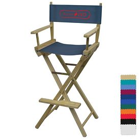 Promotional Director Chair Bar Height - 1-Color Print