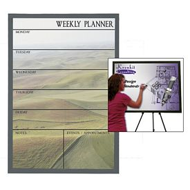 Promotional Premium Brilliant Dry Erase Board 23-inch x 35-inch (Black Wood Frame)