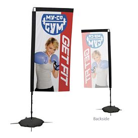 Promotional 7 Ft Rectangle Sail Sign Kit Single-Sided w/Scissor Base