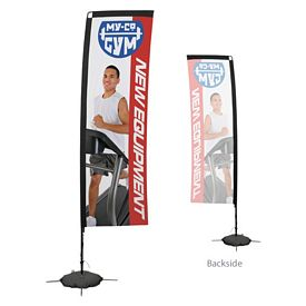 Promotional 10 Ft Rectangle Sail Sign Kit Single-Sided w/Scissor Base