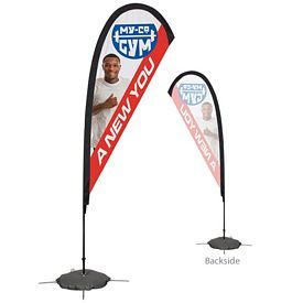 Promotional 8 Ft Tear Drop Sail Sign Kit Single-Sided w/Scissor Base