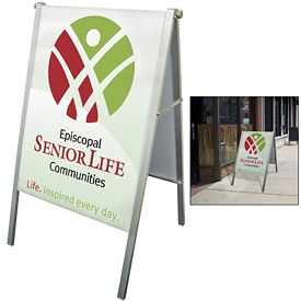 Promotional Fold-Away Compact A-Frame Display