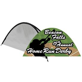 Customized Inspire Half Moon Outdoor Fabric Display (Replacement Graphic Only)