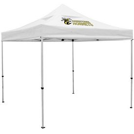 Customized Deluxe 10 Ft Square Vented Canopy Tent (Full Color Print)