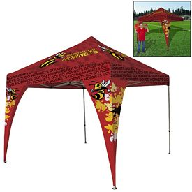 Customized Deluxe 10 Ft Square 2 Corner Banner Tent Package (Full Color Sublimation)