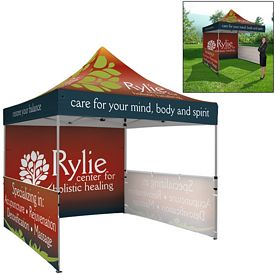 Customized Premium 10 Ft Square Tent Package (Full Color Sublimation)